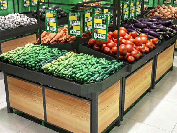 超市蔬菜架