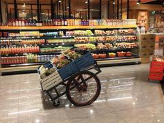 超市水果区陈列